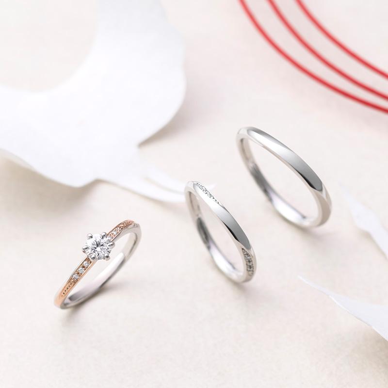 ひな結婚指輪&婚約指輪