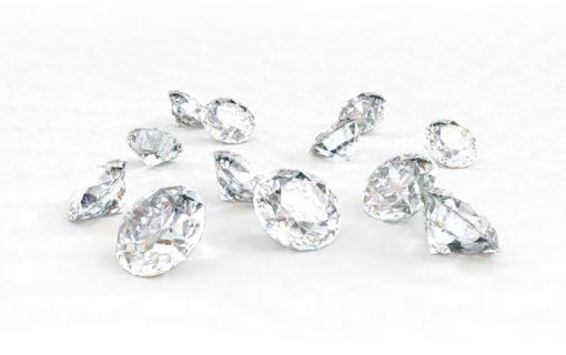 輝くメレダイヤモンド