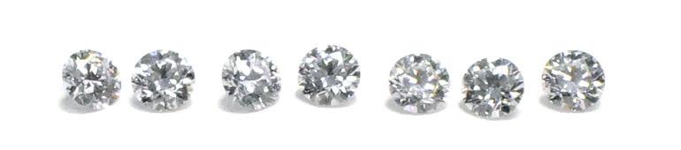 均一に輝くメレダイヤモンド